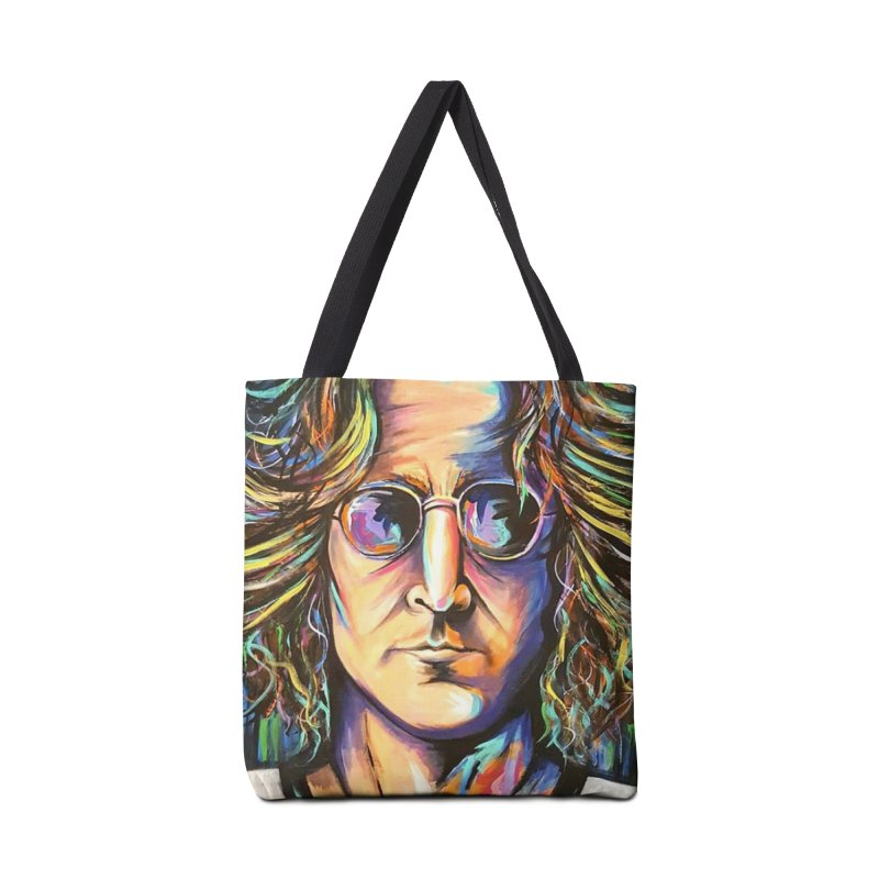 John Lennon Accessories Tote Bag Bag by amybelonio's Artist Shop