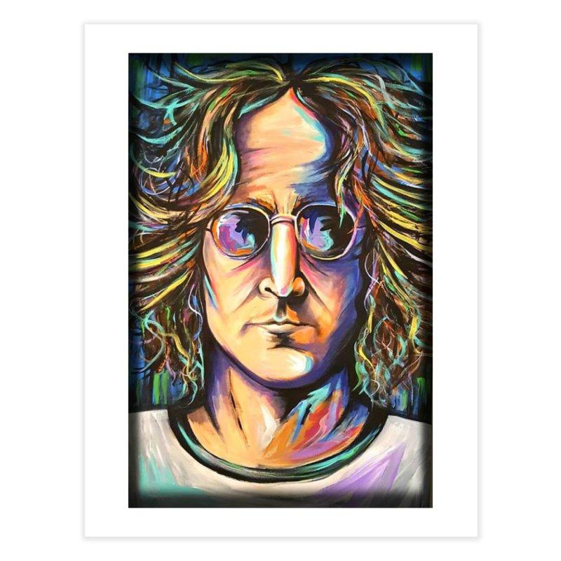 John Lennon Home Fine Art Print by amybelonio's Artist Shop