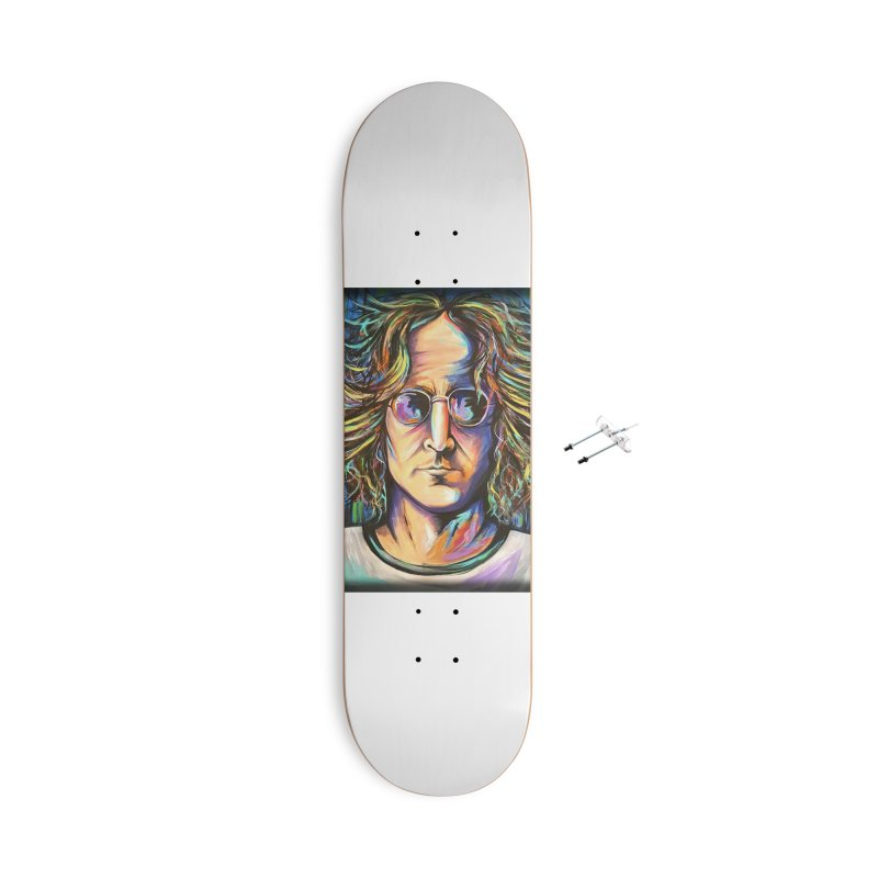 John Lennon Accessories With Hanging Hardware Skateboard by amybelonio's Artist Shop