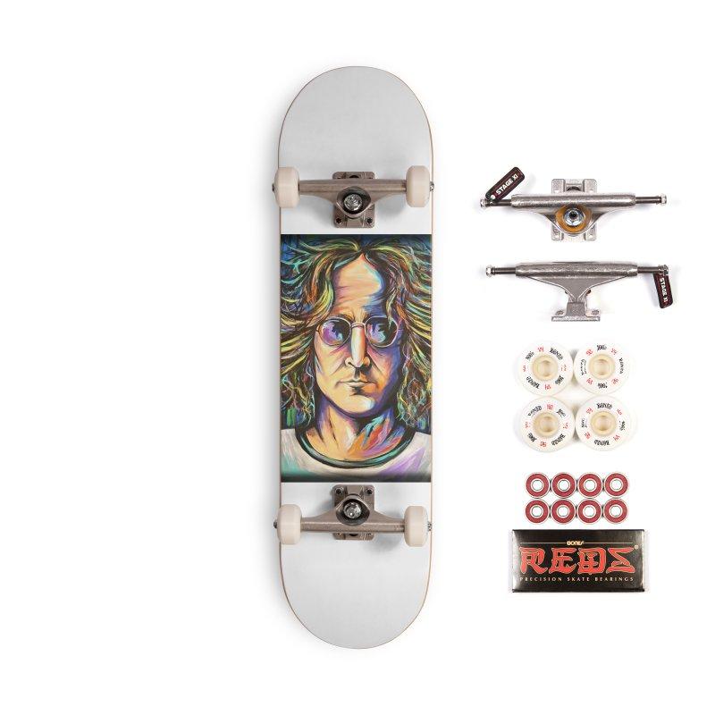 John Lennon Accessories Complete - Pro Skateboard by amybelonio's Artist Shop