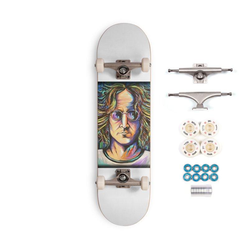 John Lennon Accessories Complete - Premium Skateboard by amybelonio's Artist Shop