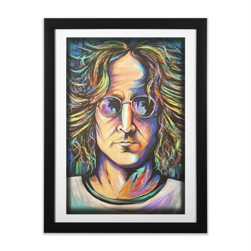 John Lennon Home Framed Fine Art Print by amybelonio's Artist Shop