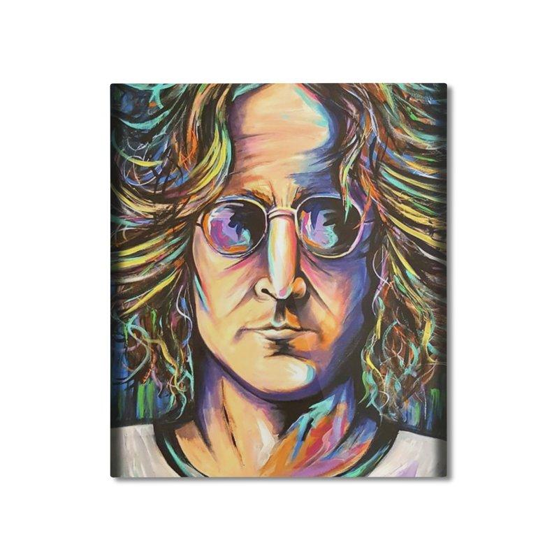 John Lennon Home Mounted Aluminum Print by amybelonio's Artist Shop