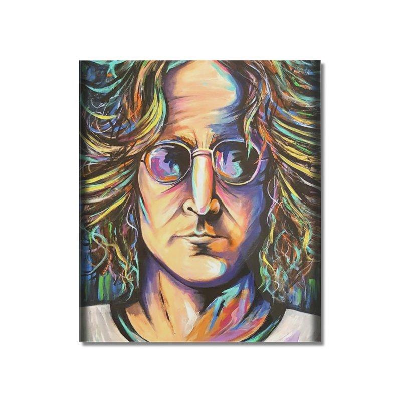 John Lennon Home Mounted Acrylic Print by amybelonio's Artist Shop