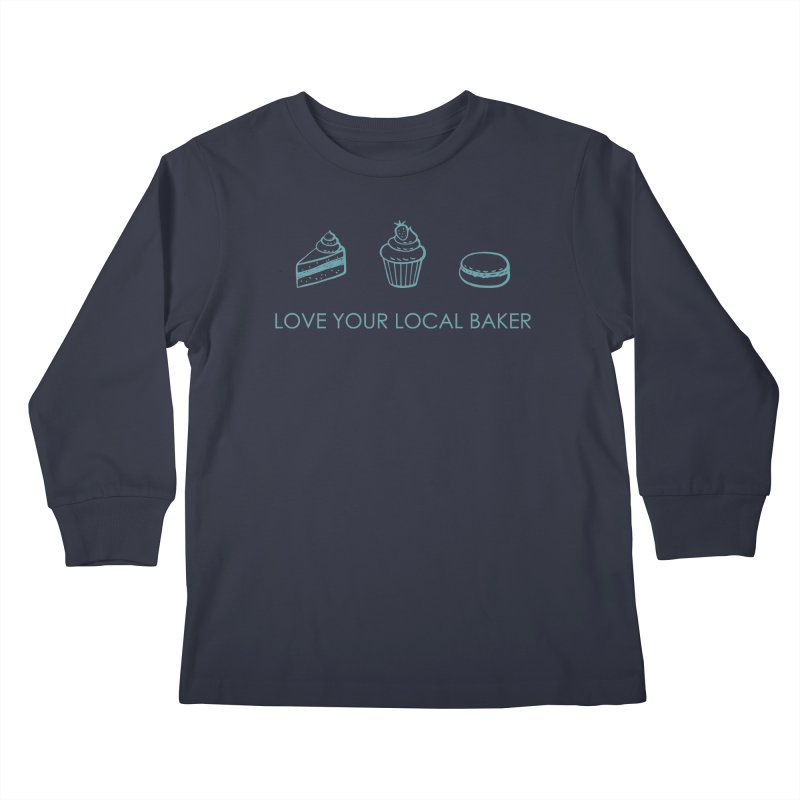 Local Baker Kids Longsleeve T-Shirt by Amy's Cupcake Shoppe Artist Shop