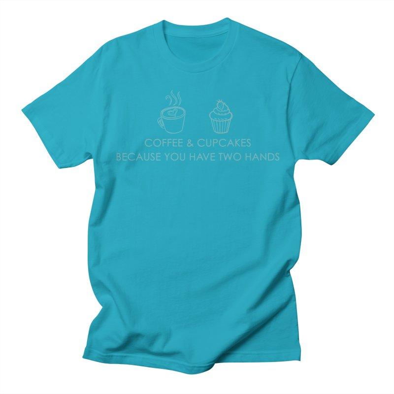 Coffee & Cupcakes Men's Regular T-Shirt by Amy's Cupcake Shoppe Artist Shop