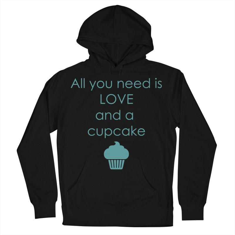 Love & Cupcake Women's French Terry Pullover Hoody by Amy's Cupcake Shoppe Artist Shop