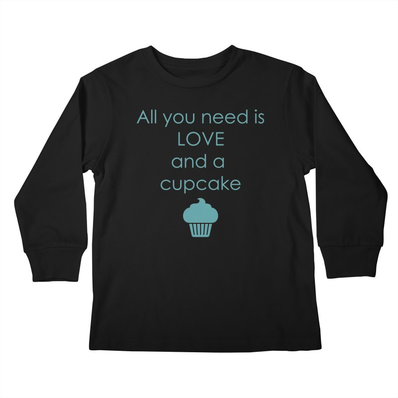 Love & Cupcake Kids Longsleeve T-Shirt by Amy's Cupcake Shoppe Artist Shop