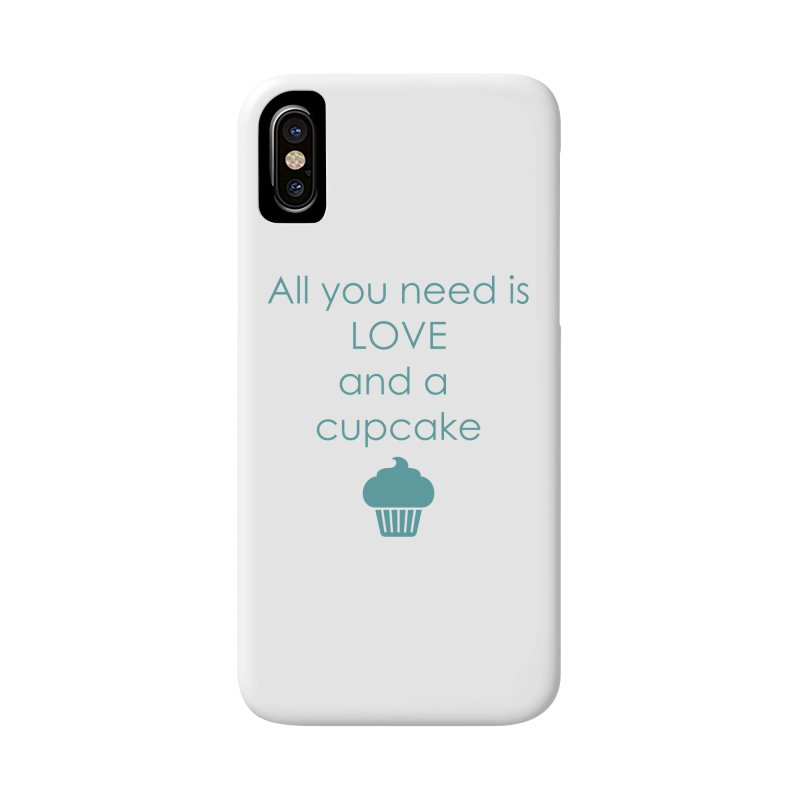 Love & Cupcake Accessories Phone Case by Amy's Cupcake Shoppe Artist Shop