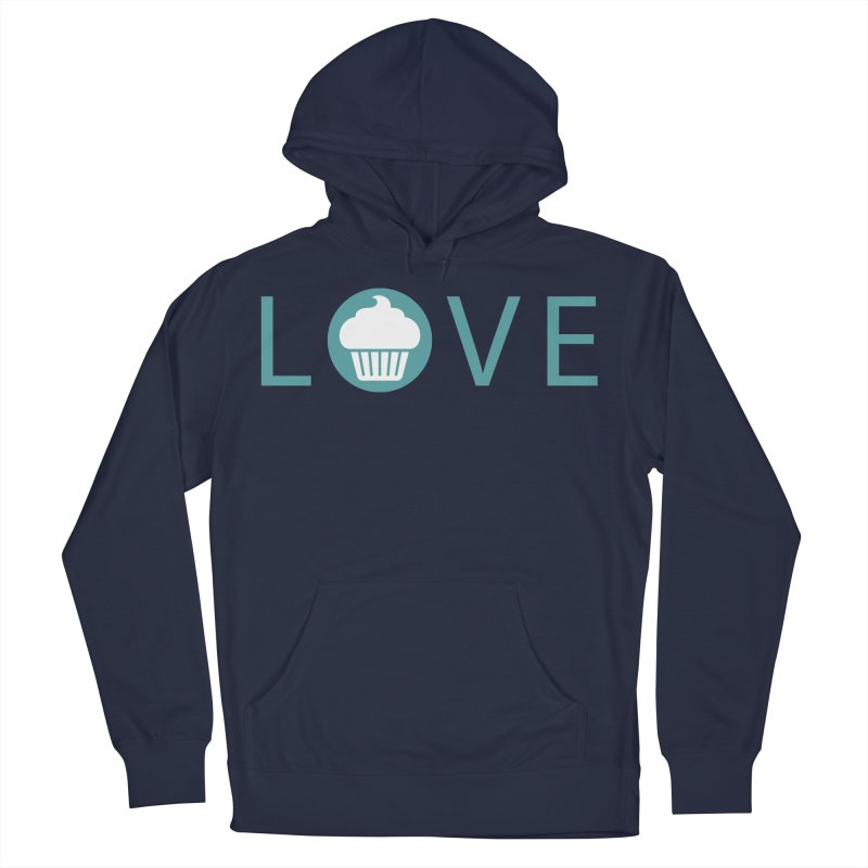 Love Men's French Terry Pullover Hoody by Amy's Cupcake Shoppe Artist Shop