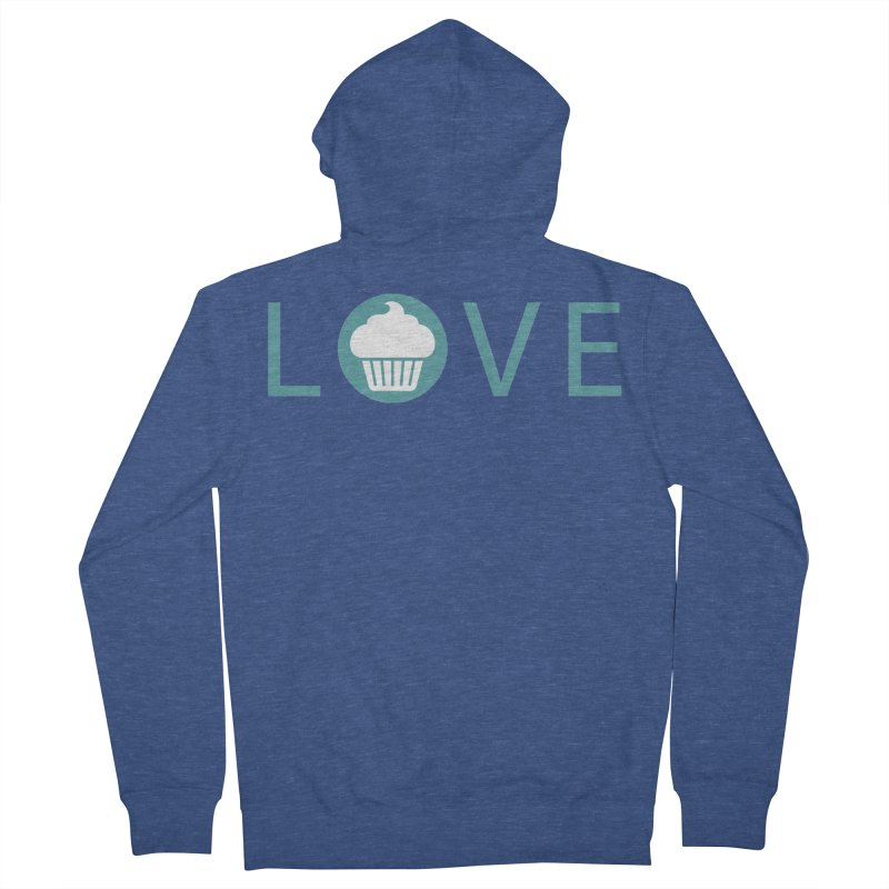 Love Men's French Terry Zip-Up Hoody by Amy's Cupcake Shoppe Artist Shop