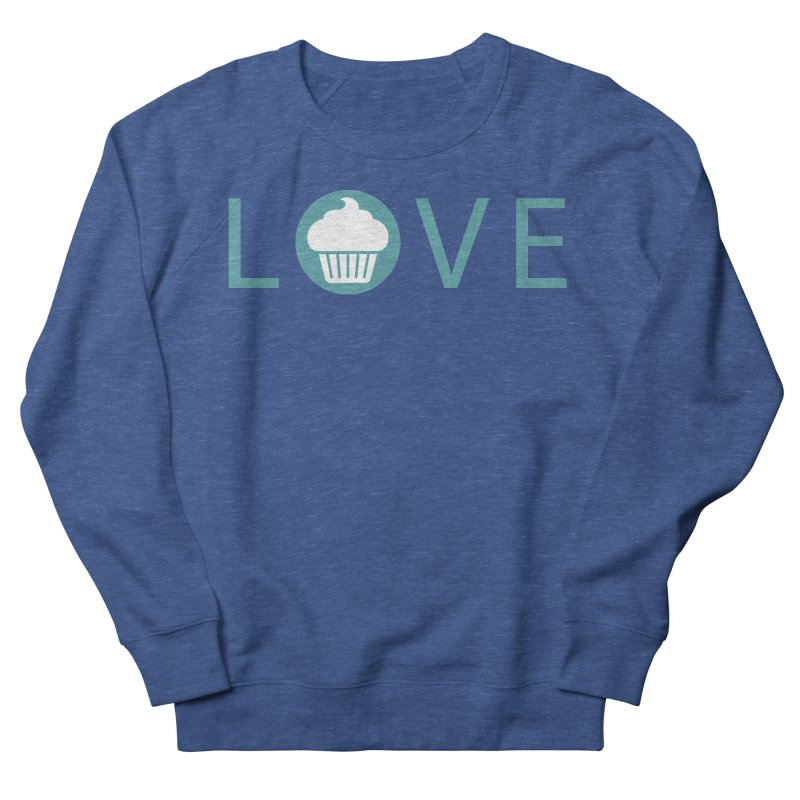 Love Men's French Terry Sweatshirt by Amy's Cupcake Shoppe Artist Shop
