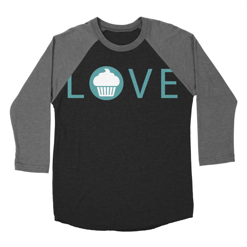 Love Women's Baseball Triblend Longsleeve T-Shirt by Amy's Cupcake Shoppe Artist Shop