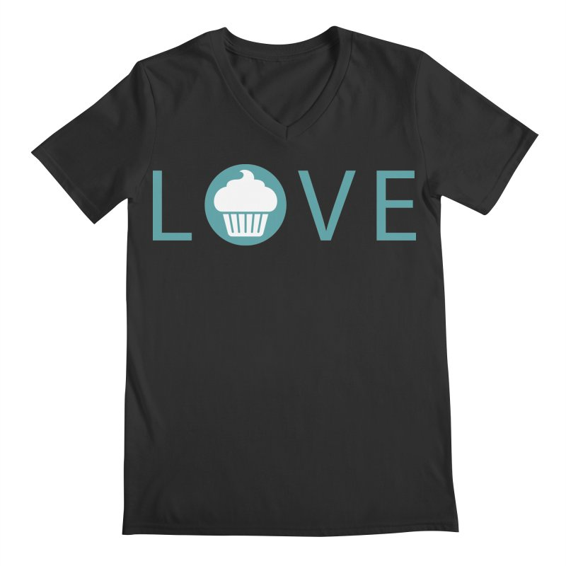 Love Men's Regular V-Neck by Amy's Cupcake Shoppe Artist Shop