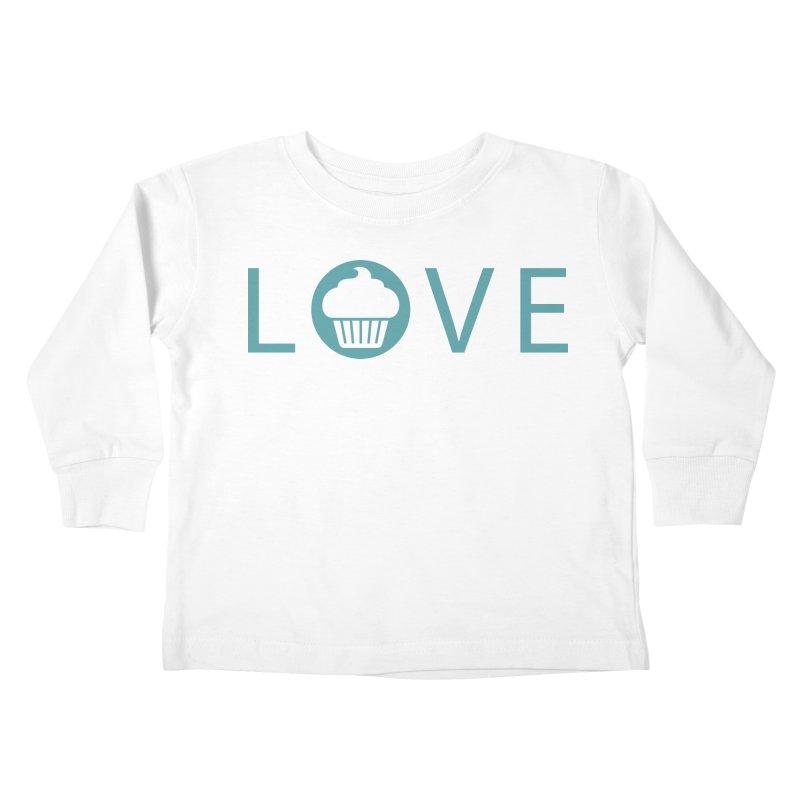 Love Kids Toddler Longsleeve T-Shirt by Amy's Cupcake Shoppe Artist Shop