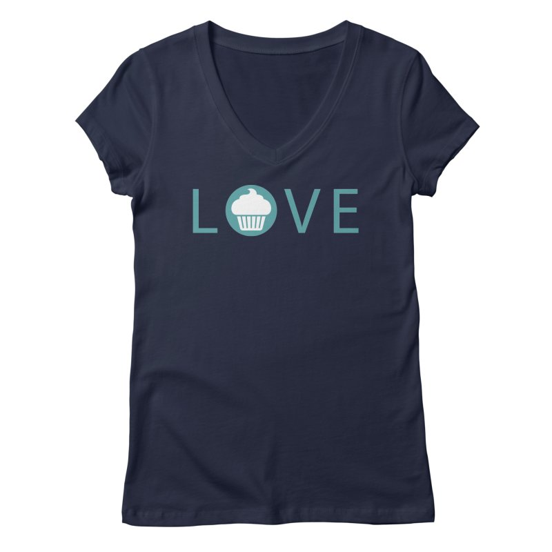Love Women's Regular V-Neck by Amy's Cupcake Shoppe Artist Shop
