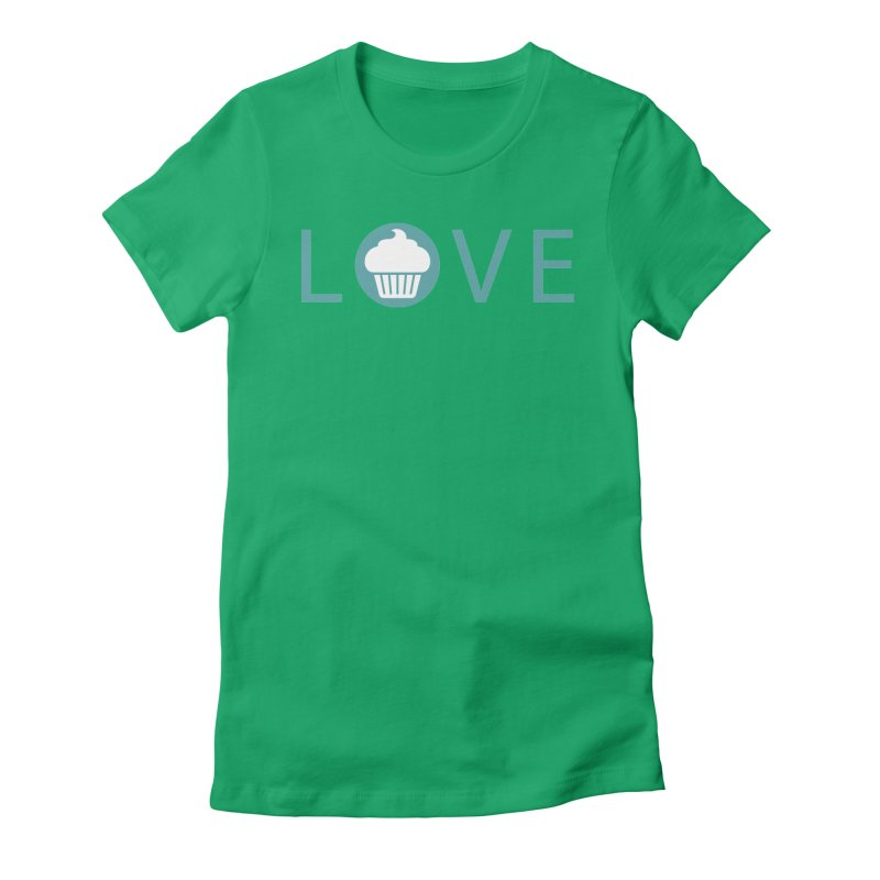 Love Women's Fitted T-Shirt by Amy's Cupcake Shoppe Artist Shop