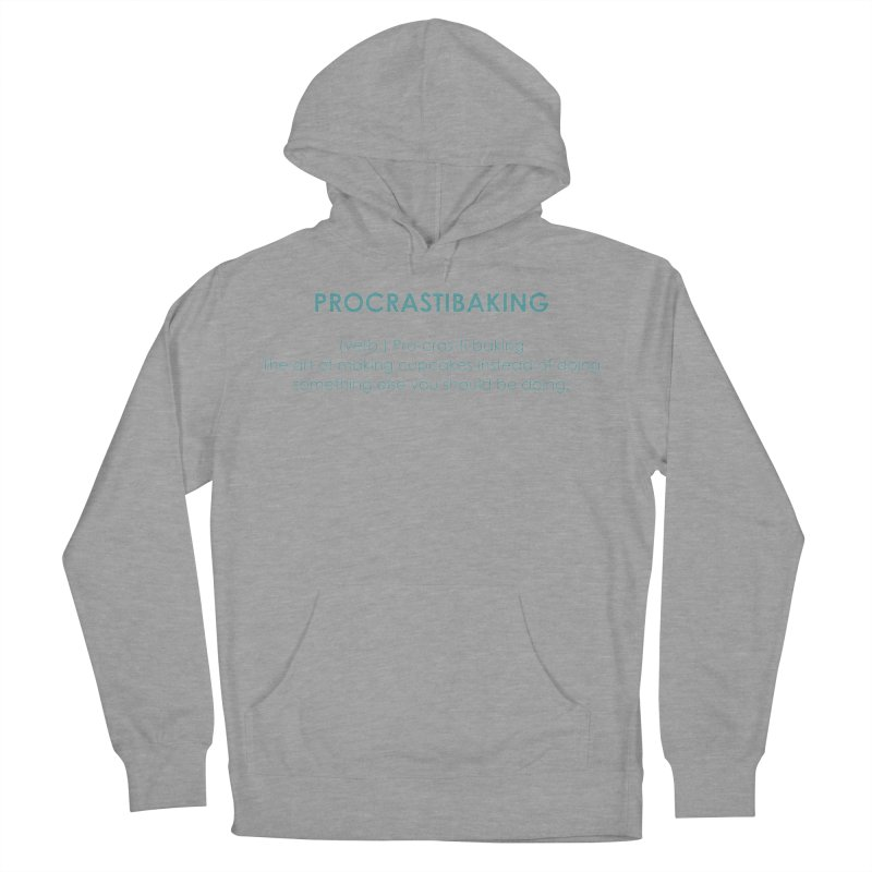 Procrastibaking Men's French Terry Pullover Hoody by Amy's Cupcake Shoppe Artist Shop