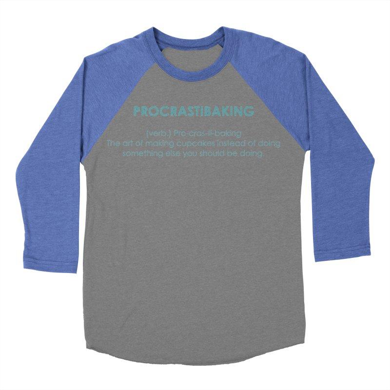 Procrastibaking Men's Baseball Triblend Longsleeve T-Shirt by Amy's Cupcake Shoppe Artist Shop