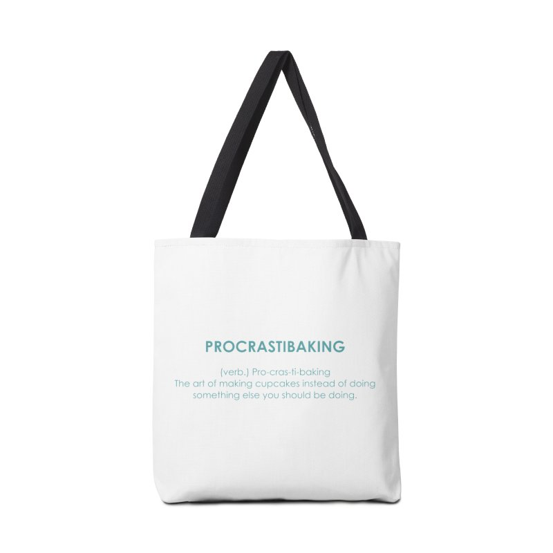 Procrastibaking Accessories Tote Bag Bag by Amy's Cupcake Shoppe Artist Shop