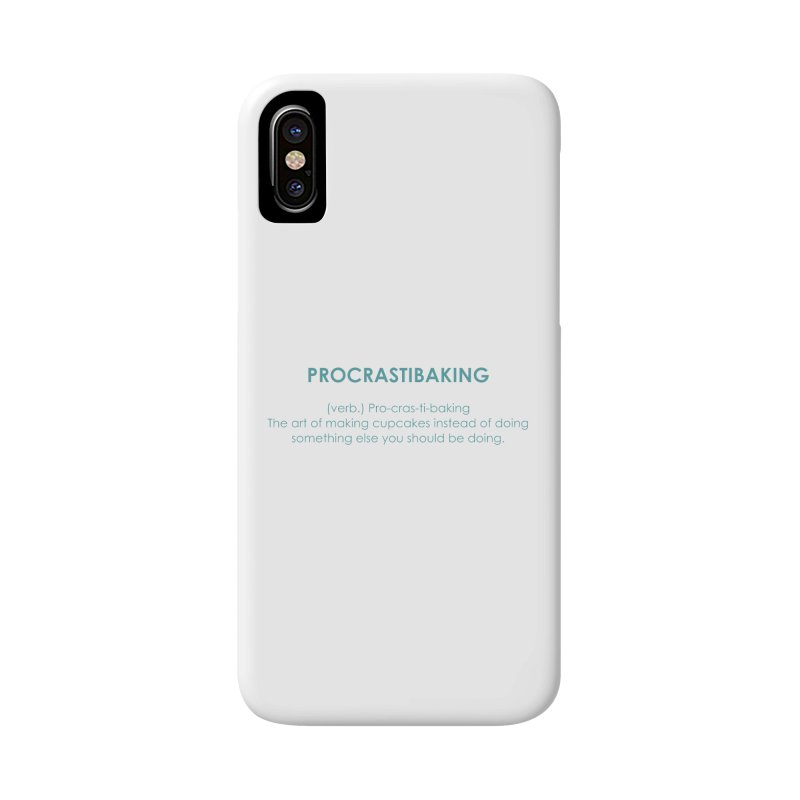 Procrastibaking Accessories Phone Case by Amy's Cupcake Shoppe Artist Shop