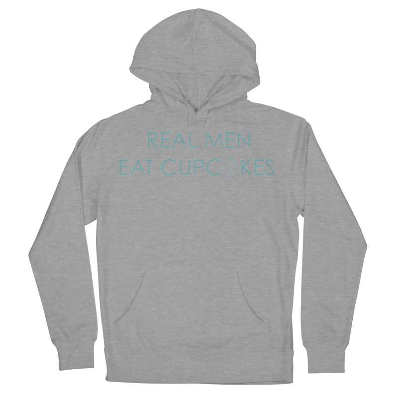 Men & Cupcakes Women's French Terry Pullover Hoody by Amy's Cupcake Shoppe Artist Shop