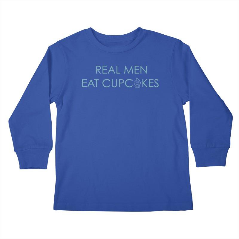 Men & Cupcakes Kids Longsleeve T-Shirt by Amy's Cupcake Shoppe Artist Shop