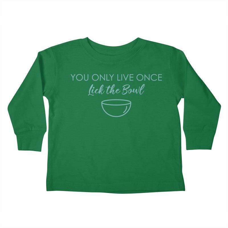 Lick the Bowl Kids Toddler Longsleeve T-Shirt by Amy's Cupcake Shoppe Artist Shop