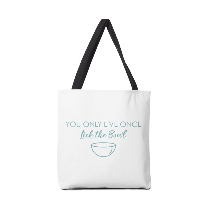 Lick the Bowl Accessories Tote Bag Bag by Amy's Cupcake Shoppe Artist Shop