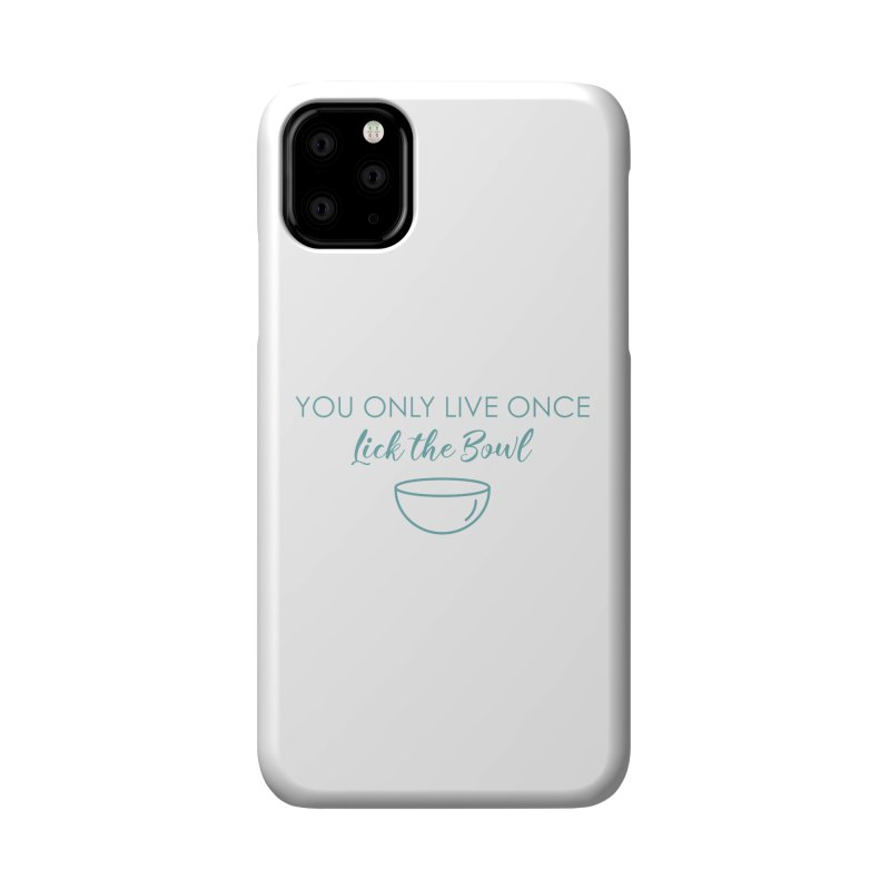 Lick the Bowl Accessories Phone Case by Amy's Cupcake Shoppe Artist Shop