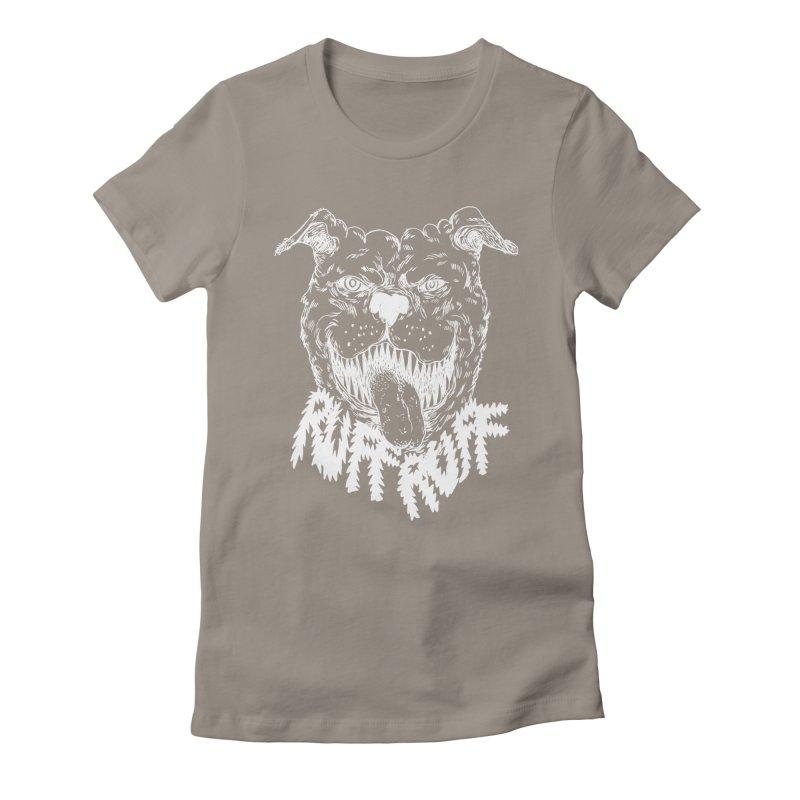 Ruff Doggie Women's Fitted T-Shirt by anabenaroya's Artist Shop