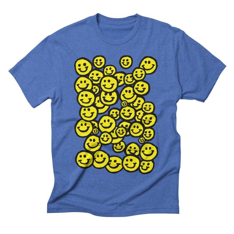 Smiley Overload Men's Triblend T-shirt by anabenaroya's Artist Shop