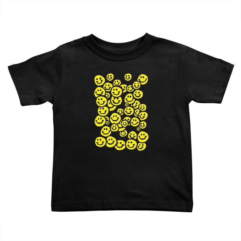 Smiley Overload Kids Toddler T-Shirt by anabenaroya's Artist Shop