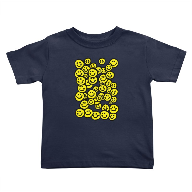 Smiley Overload Kids Toddler T-Shirt by anabenaroya's Artist Shop