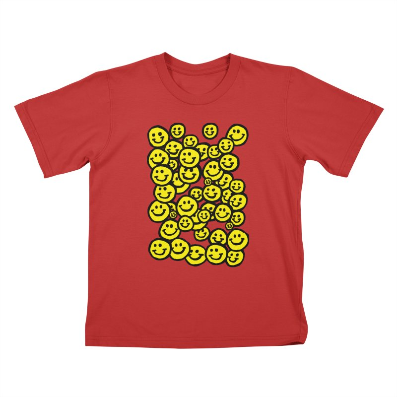 Smiley Overload Kids T-Shirt by anabenaroya's Artist Shop