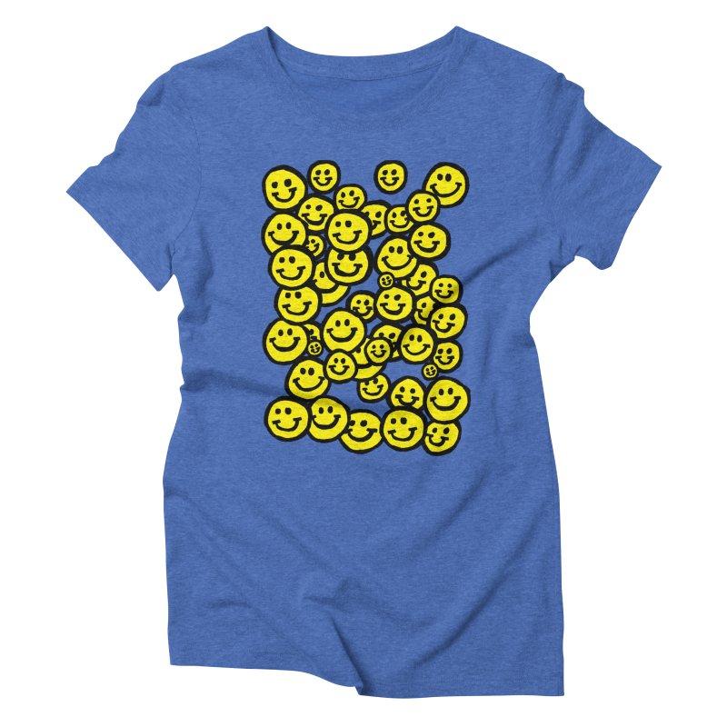 Smiley Overload Women's Triblend T-shirt by anabenaroya's Artist Shop