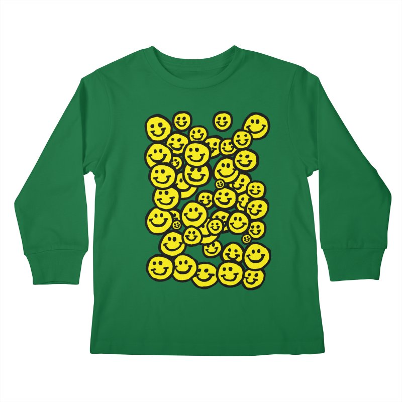 Smiley Overload Kids Longsleeve T-Shirt by anabenaroya's Artist Shop