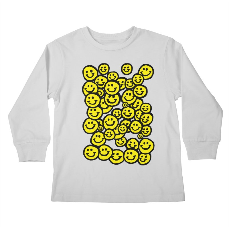 Smiley Overload Kids Longsleeve T-Shirt by anabenaroya's Artist Shop