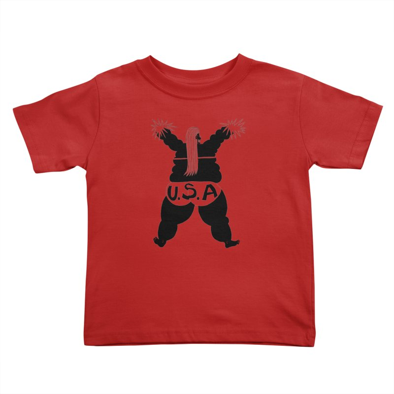 American Cheerleader Kids Toddler T-Shirt by anabenaroya's Artist Shop