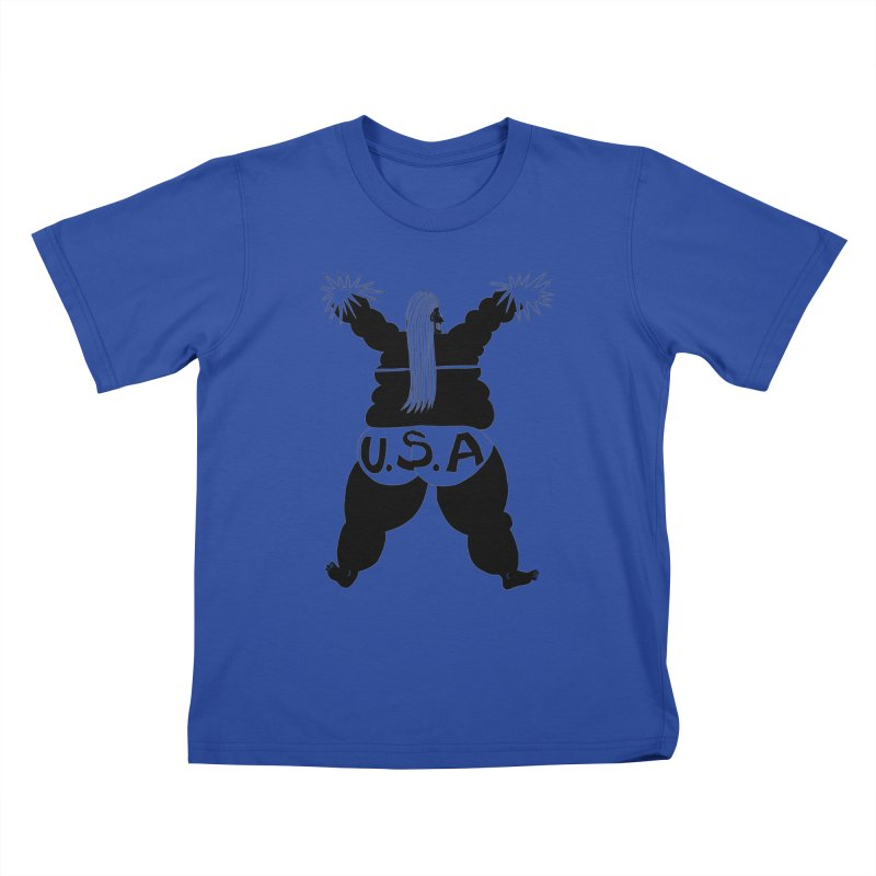 American Cheerleader Kids T-Shirt by anabenaroya's Artist Shop