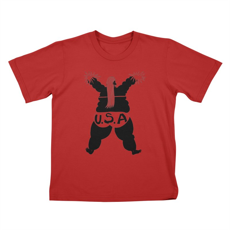 American Cheerleader Kids T-shirt by anabenaroya's Artist Shop