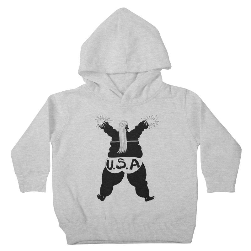 American Cheerleader Kids Toddler Pullover Hoody by anabenaroya's Artist Shop