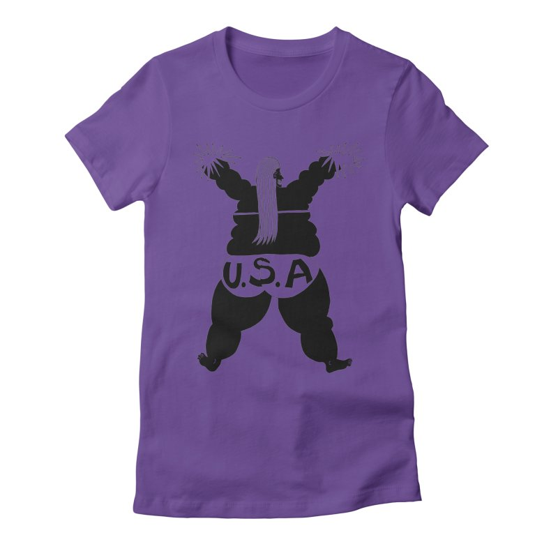 American Cheerleader Women's Fitted T-Shirt by anabenaroya's Artist Shop