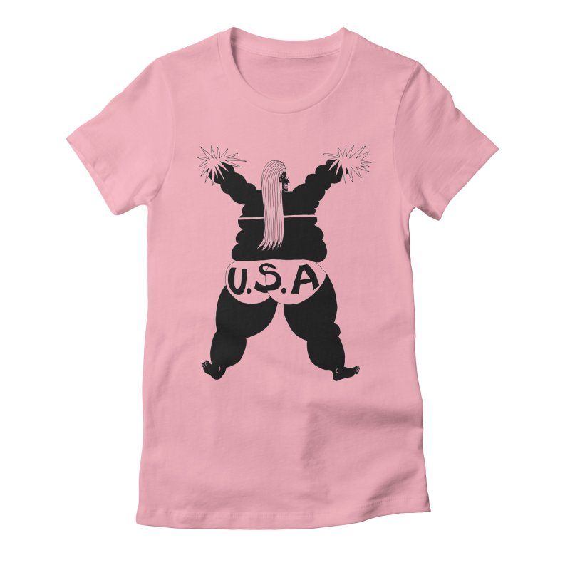 American Cheerleader Women's Fitted T-Shirt by anabenaroya's Artist Shop