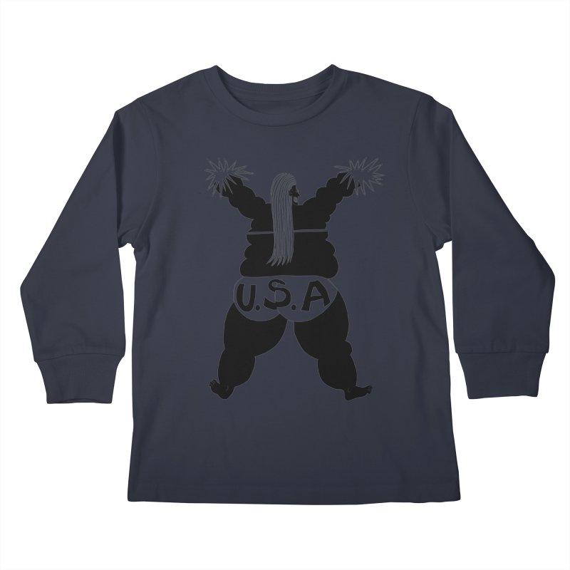 American Cheerleader Kids Longsleeve T-Shirt by anabenaroya's Artist Shop