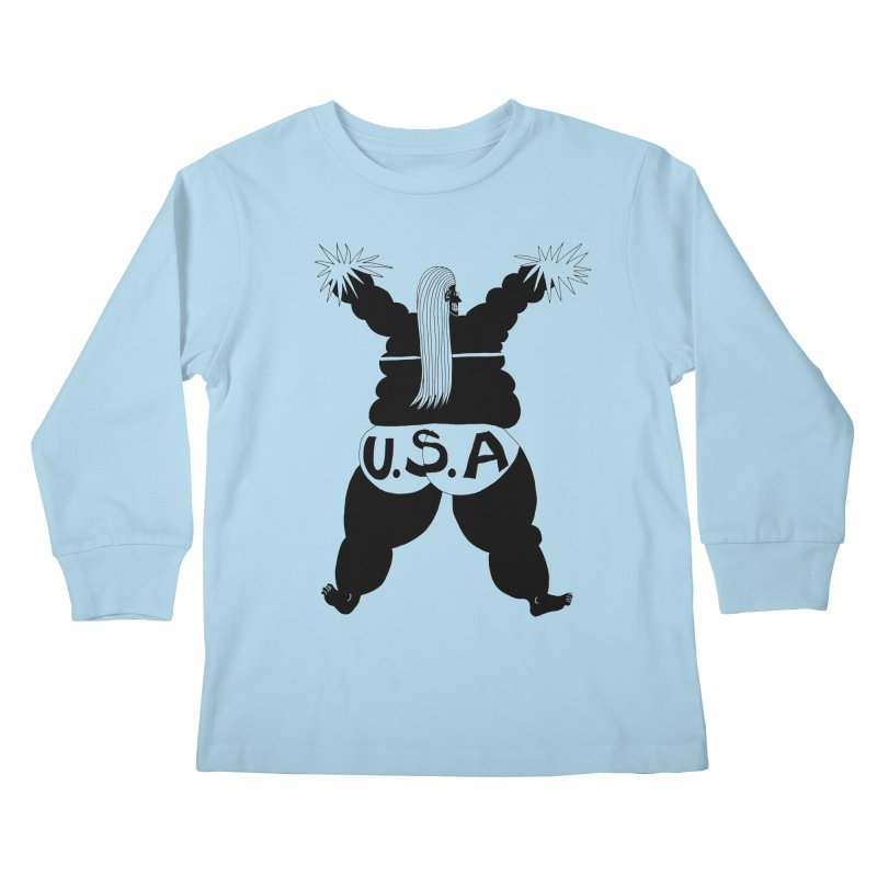 American Cheerleader Kids Longsleeve T-Shirt by anabenaroya's Artist Shop