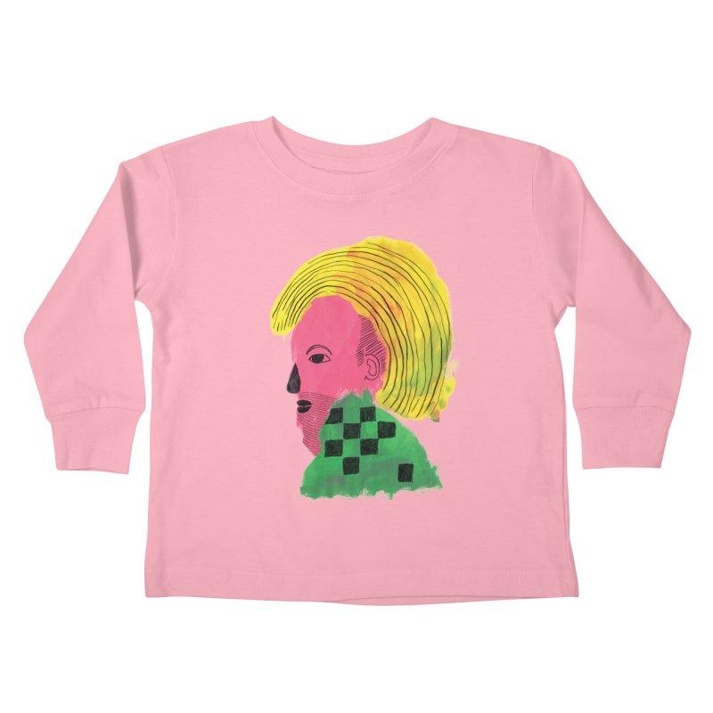 Blonde Ambition Kids Toddler Longsleeve T-Shirt by anabenaroya's Artist Shop