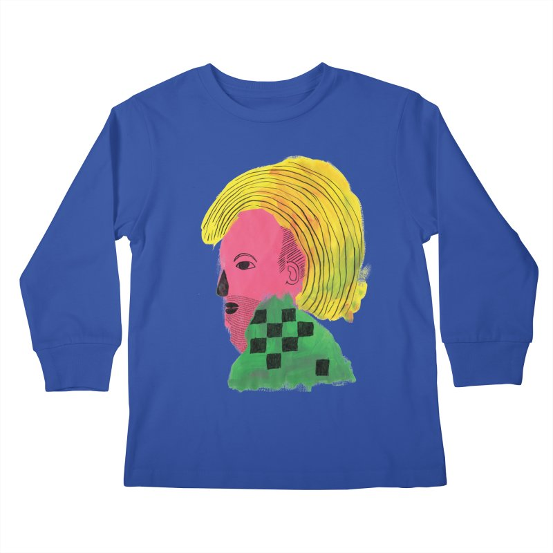 Blonde Ambition Kids Longsleeve T-Shirt by anabenaroya's Artist Shop