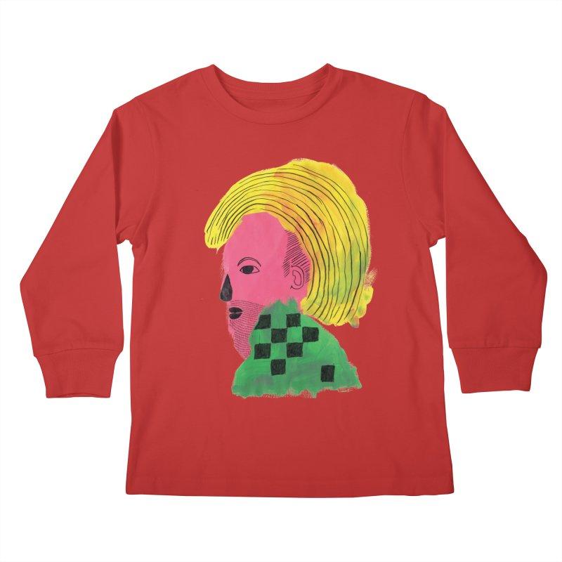 Blonde Ambition Kids Longsleeve T-Shirt by anabenaroya's Artist Shop