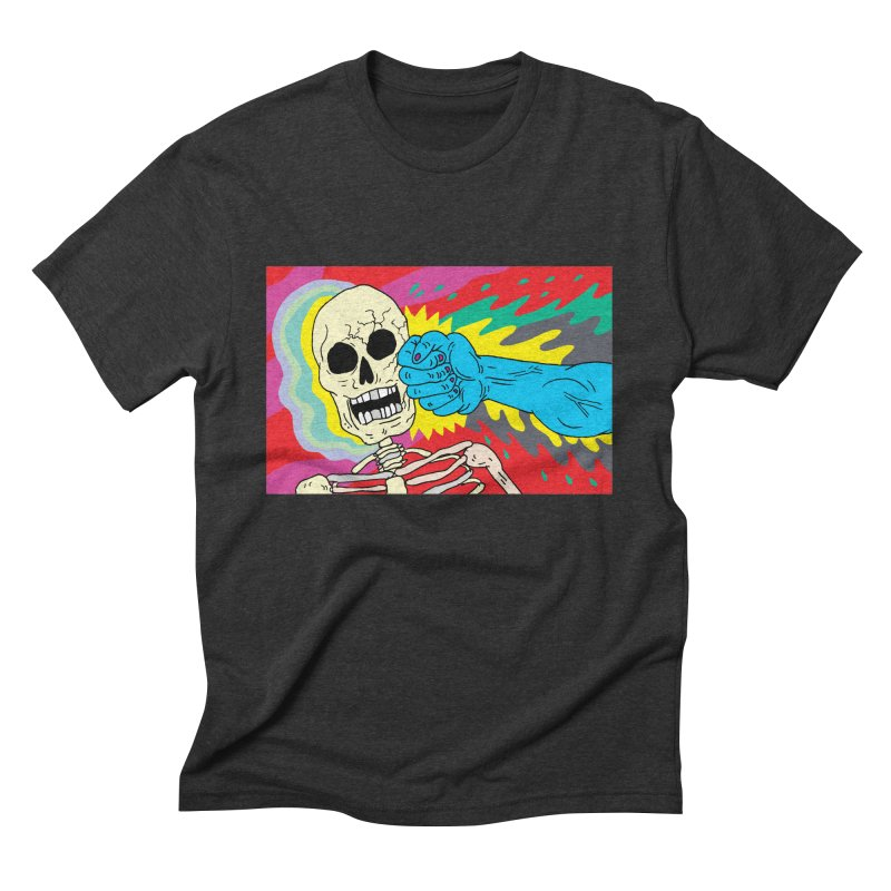 Punching Death Men's Triblend T-shirt by anabenaroya's Artist Shop